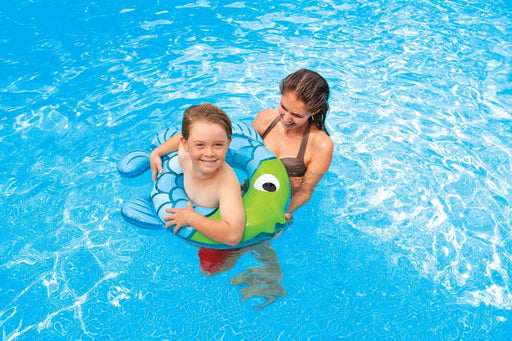 Intex Kids Tube - Inflatable Swim Along Rings - Fish Shape (Blue - Green) - PlayKreative.com