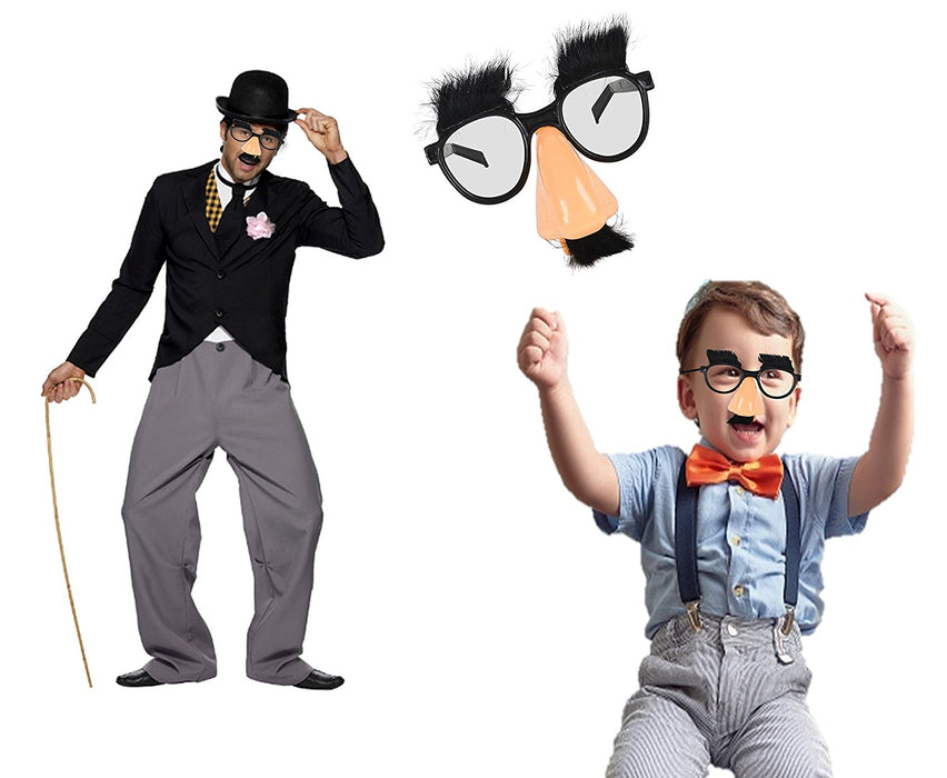 Play Kreative Disguise Glasses with Funny Nose, Eyebrows and Mustache - Pack of - PlayKreative.com