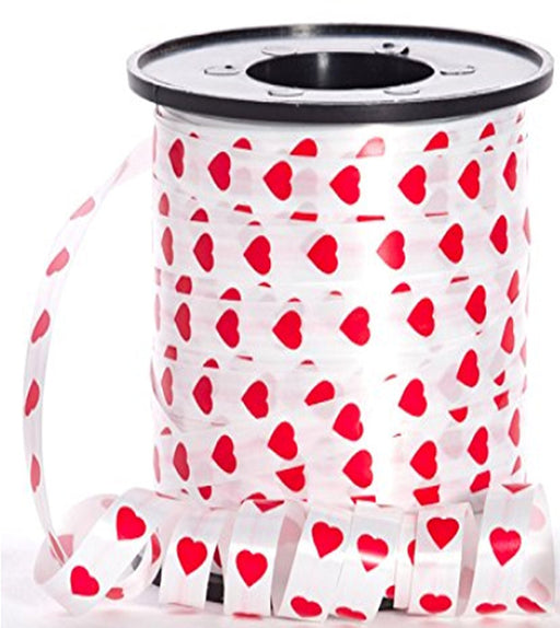 "Play Kreative Red Hearts Curling Ribbon -1/4"" x 200 yds. Curling Ribbons for VAL - PlayKreative.com"