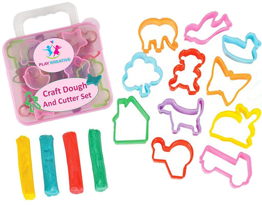 Play Kreative Craft Clay and Play Dough Cutter Set - Includes Variety of Shapes - PlayKreative.com