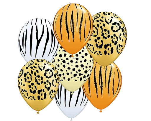 Play Kreative Party Jungle Animal Print Latex Balloons - PlayKreative.com