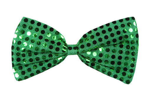 Green Sequin Bow Tie