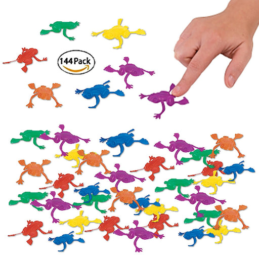 Play Kreative Plastic Jumping Frogs - 144 pack - Kids Frog Hoppers Jumping Toy - - PlayKreative.com