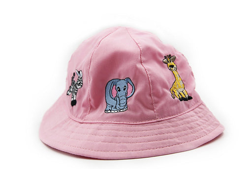 Play Kreative Pink Sun Protection Child Safari  Animal, Sun Bucket Hat. - PlayKreative.com