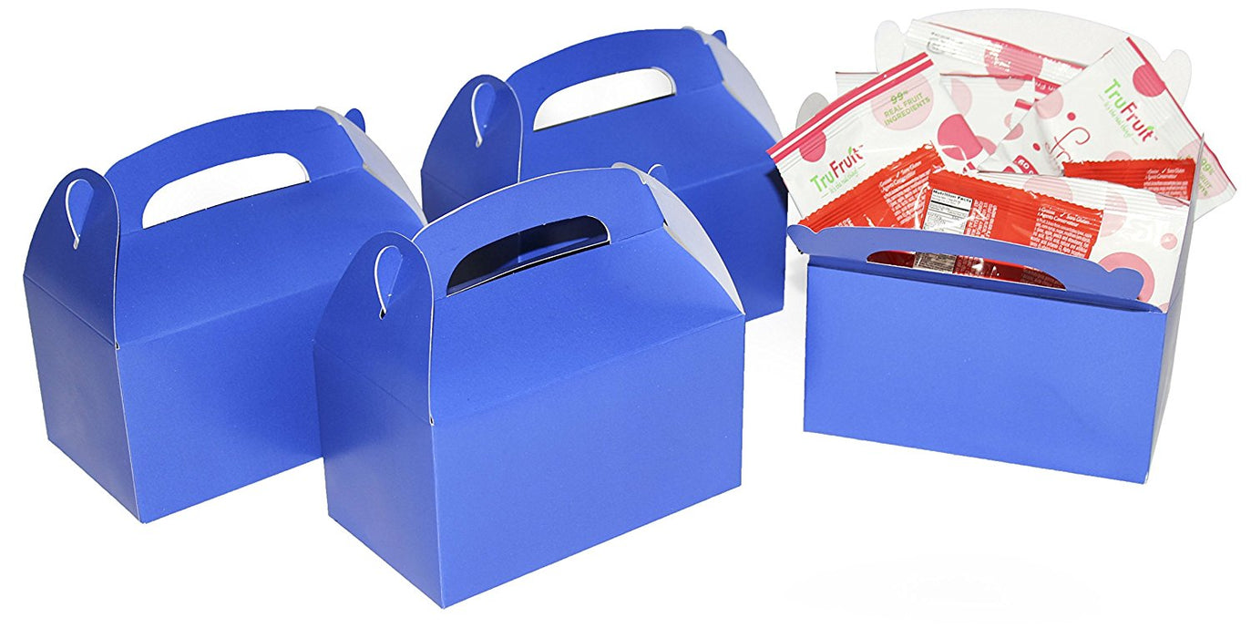 Play Kreative Blue Gable Treat Box - Pack of 12 - PlayKreative.com