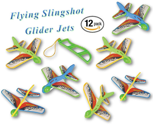 Play Kreative Kids Flying Slingshot Glider Jet Plane - 12 Pack - PlayKreative.com