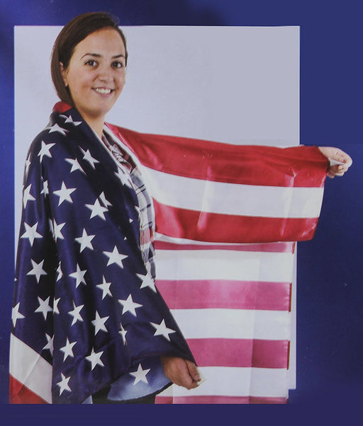 USA Stars N Stripes Patriotic American Body Cape Flag Costume - Play Kreative TM - PlayKreative.com