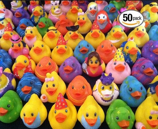 Play Kreative Rubber Ducky Assortment - Pack of 50 2 Inch Rubber Ducks for Kids - PlayKreative.com