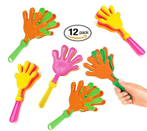 Play Kreative Plastic Colorful Hand Clappers  Noisemakers - PlayKreative.com
