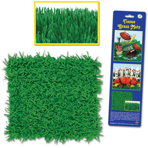 Green Tissue Grass Mats - Pack of 2
