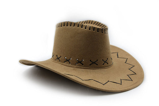 Western Cowboy Cowgirl Hat - (Light Brown) - Play Kreative TM - PlayKreative.com
