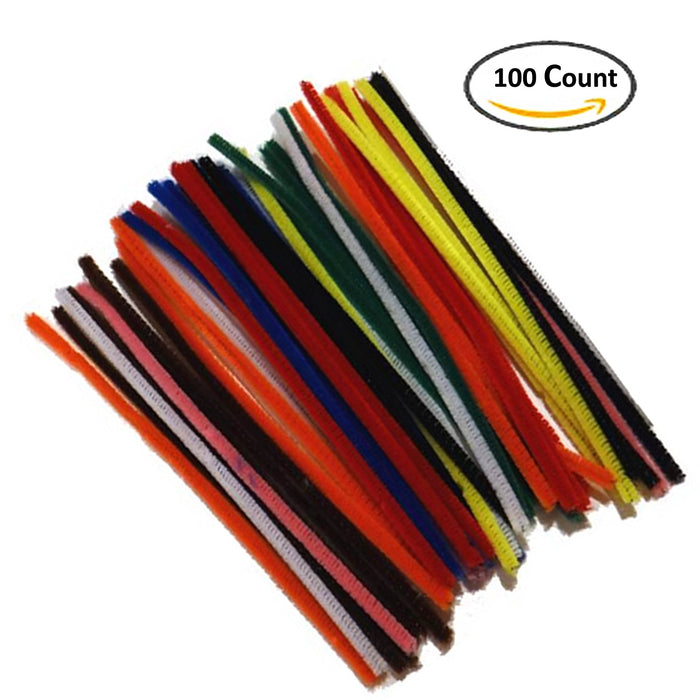 "Play Kreative 12"" Chenille Stems 100 Pack - Assorted Colors - PlayKreative.com"