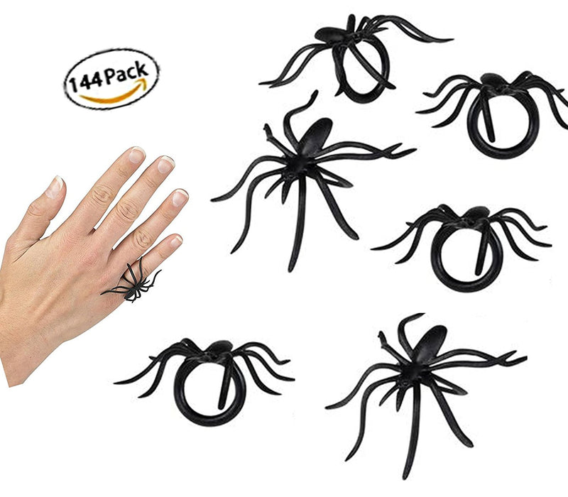 Play Kreative Halloween Spider Rings - Pack of 144 Spider Party Favors - PlayKreative.com