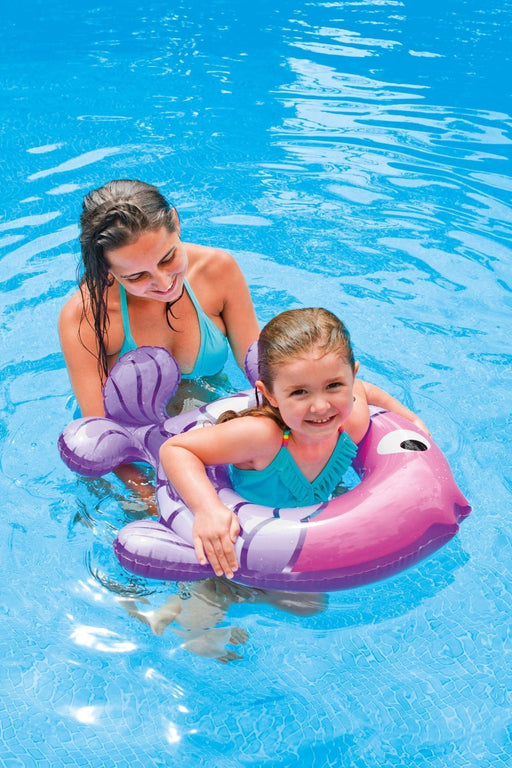 Intex Kids Tube - Inflatable Swim Along Rings - Fish Shape (Pink - Purple) - PlayKreative.com