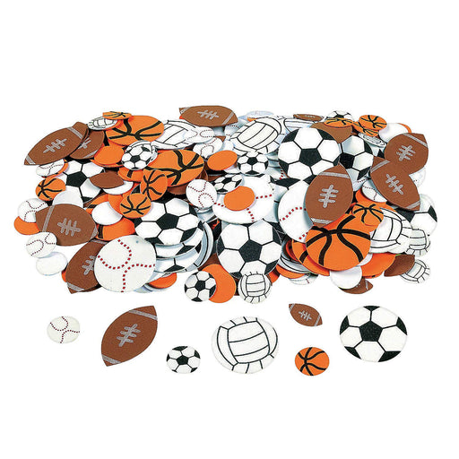 Fabulous Foam Self-Adhesive Sport Ball Shapes - 500 Pieces