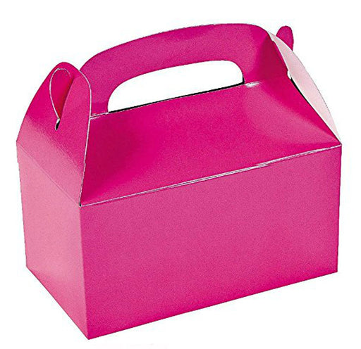 Play Kreative Hot Pink Gable Treat Box - Pack of 12 - PlayKreative.com