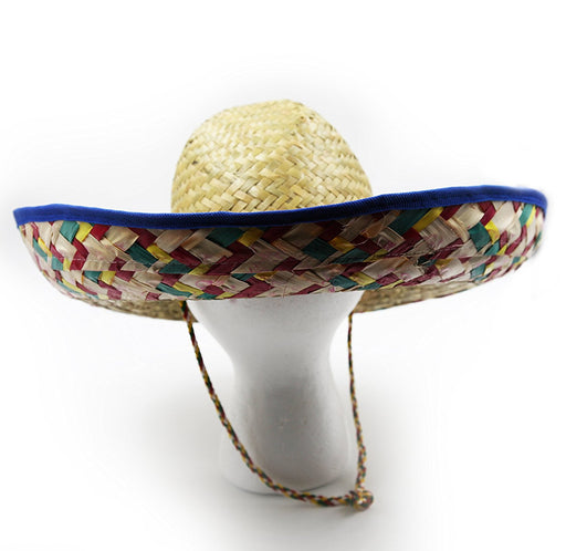 Play Kreative  Colorful Woven Straw Sombreros Hat - Fiesta Adult Hat - PlayKreative.com