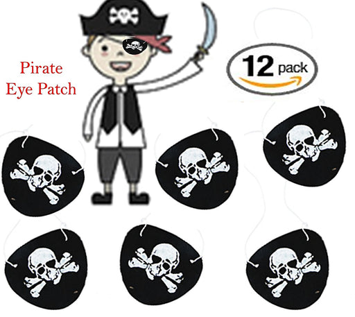 Play Kreative Felt Pirate Eye Patches - 12 Pack - Kids Pirate Costume accessorie - PlayKreative.com