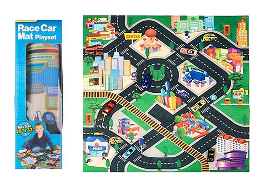 Play Kreative City Life Play Carpet - Toy Vehicles Play mat With Cars Included - PlayKreative.com