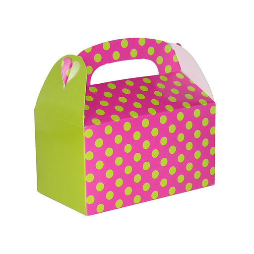 Play Kreative Polka Dot Gable Treat Box - Pack of 12 - PlayKreative.com