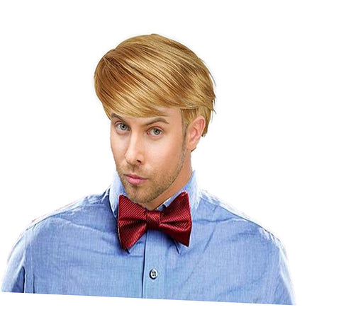 Play Kreative Handsome Short Straight Mens Blonde Wig for Halloween or Costume Dress up - PlayKreative.com