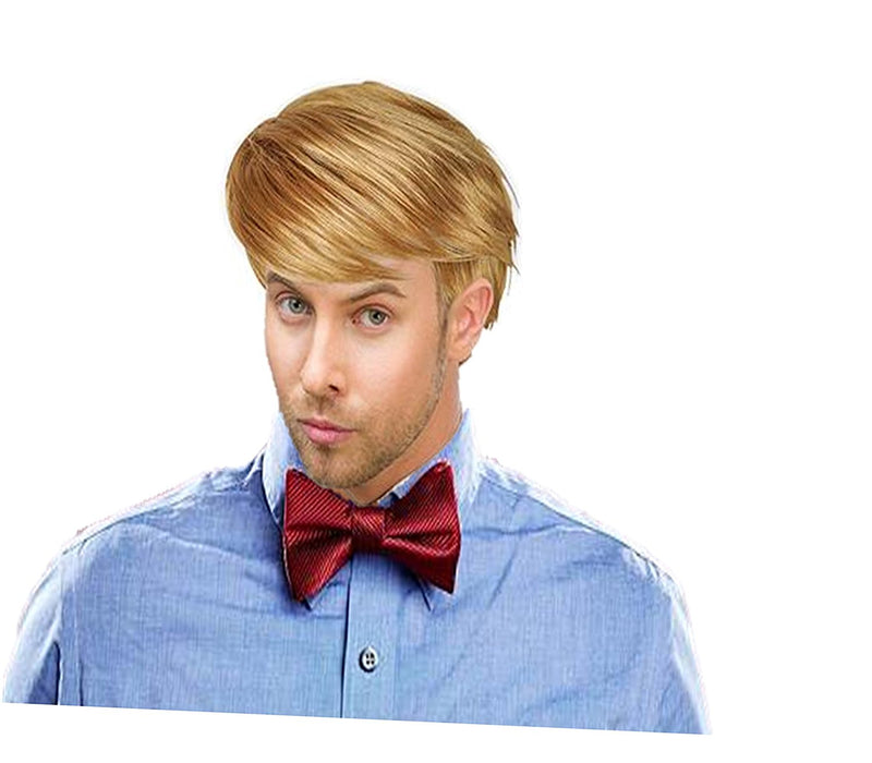 Play Kreative Handsome Short Straight Mens Blonde Wig for Halloween or Costume D - PlayKreative.com