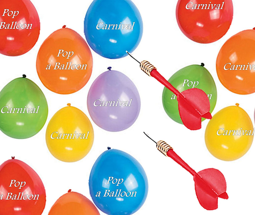 Play Kreative Red Carnival Balloon Darts - Party Pack of 24 Balloon Darts for po - PlayKreative.com