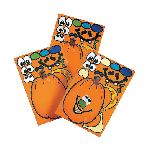 Halloween Jack-O'-Lantern Make-A-Pumpkin Stickers - Pack of 24