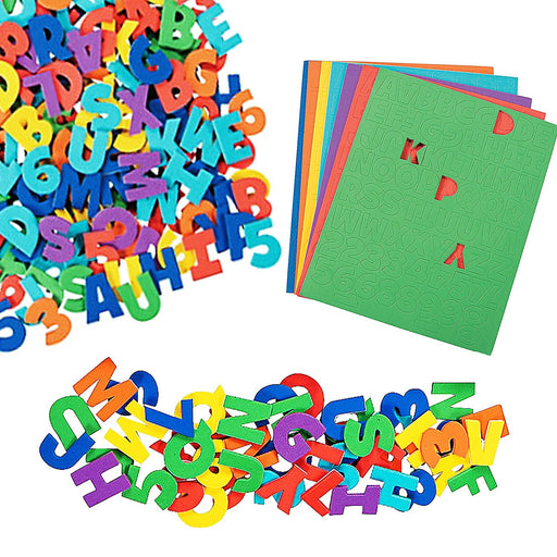 Play Kreative Self-Adhesive Foam Letters & Numbers - 504 pcs - Assorted Colors - PlayKreative.com