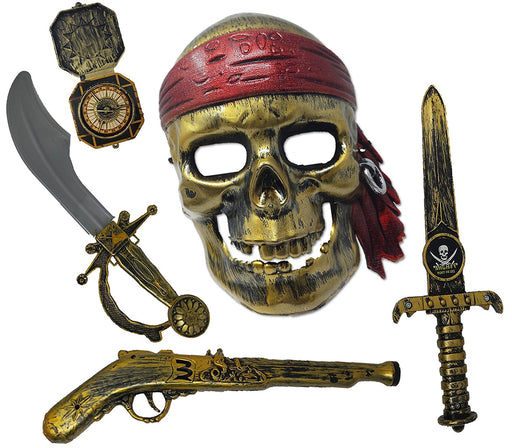 Play Kreative Halloween Pirate Costume Set W/ Accessories - Pirate Role Play Set - PlayKreative.com