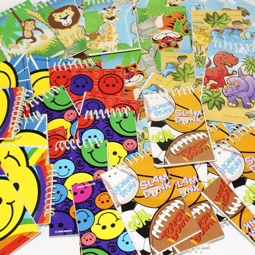 Mini Spiral Notepads SMILE, ZOO, SPORTS PARTY FAVORS. DENTAL, TEACHER - PlayKreative.com