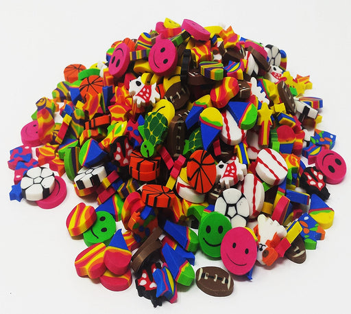 Play Kreative Mini Eraser Assortment - 500 Pieces - PlayKreative.com