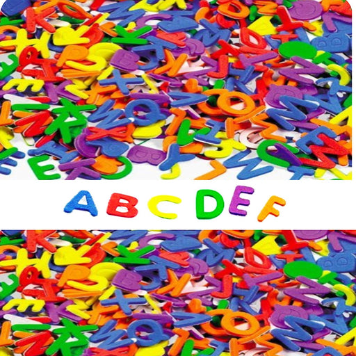 Play Kreative Self-Adhesive Foam Letters - 1040 pcs - Assorted Colors - PlayKreative.com
