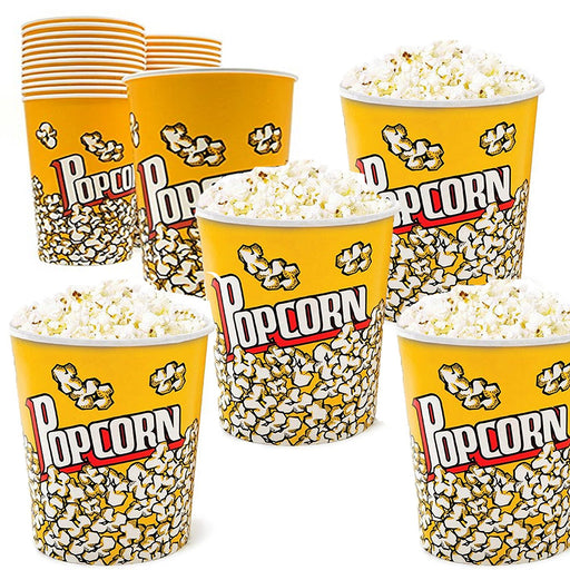 Play Kreative Movie Theater Popcorn Cups -Pack of 12 - 32 Oz Popcorn snack Bucket Cups - PlayKreative.com