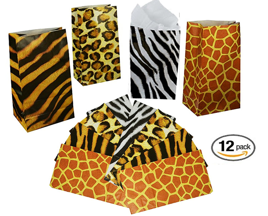 Play Kreative Zoo Animal Print Paper Bags - PlayKreative.com