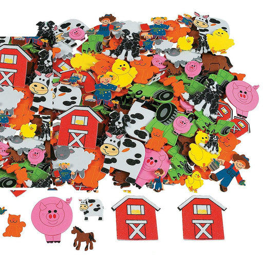 Play Kreative Foam Self-Adhesive Farm Shapes Stickers - Bulk 500 pcs - PlayKreative.com