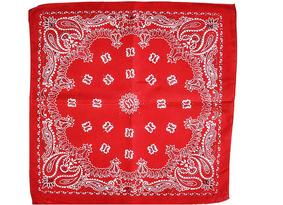 Play Kreative RED Cowboy Western Bandana - 12 Pack - PlayKreative.com