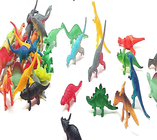 Play Kreative Vinyl Mini Dinosaurs Figures - Pack of 72 - PlayKreative.com