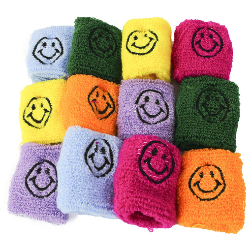 12 Smiley Face Wristbands - Assorted Colors - Play Kreative TM - PlayKreative.com