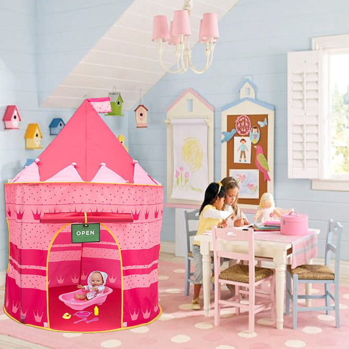 Play Kreative Princess Castle PlayTent with Crawling Tunnel - PlayKreative.com