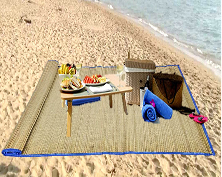 "Play Kreative Sand Proof Straw Beach Mat 33"" x 60"" - PlayKreative.com"