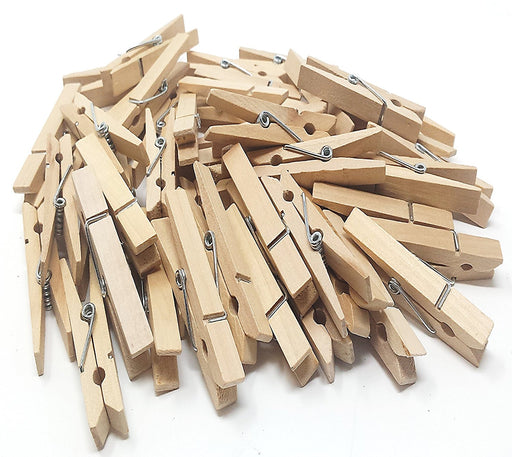Play Kreative Natural Wood Clothespins - 50 Pack - PlayKreative.com