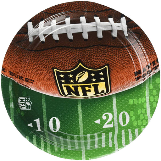 "NFL Drive Collection 7"" Round, Party Plates"
