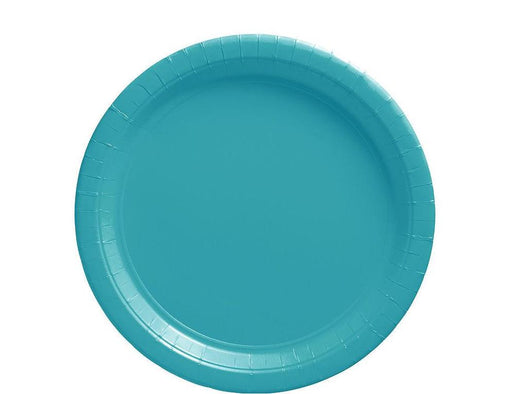 Caribbean Blue Lunch Plates - 7 Inch - 50 Pack