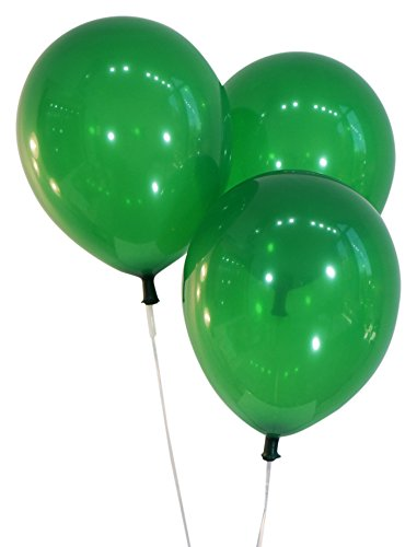 Green 12 Inch Latex Balloons - Pack of 100 Pieces