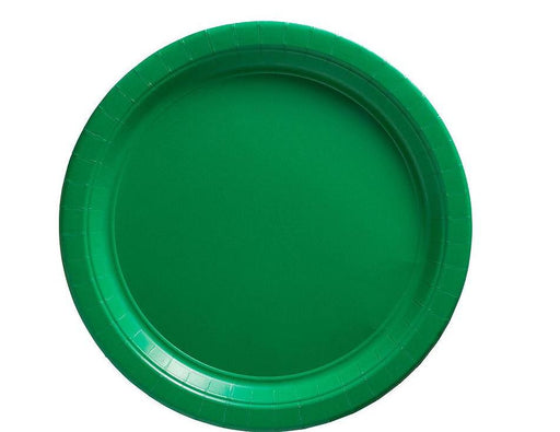 Green Lunch Plates - 7 Inch - 50 Pack