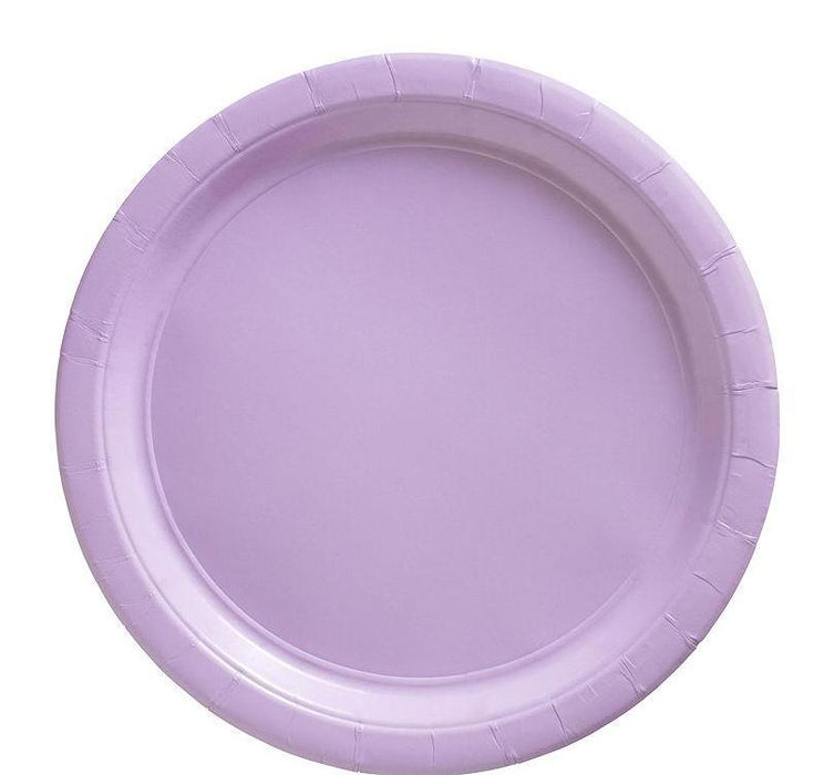 Lavender Lunch Plates - 7 Inch - 50 Pack