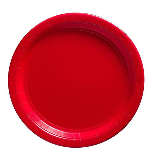 Red Lunch Plates - 7 Inch - 50 Pack