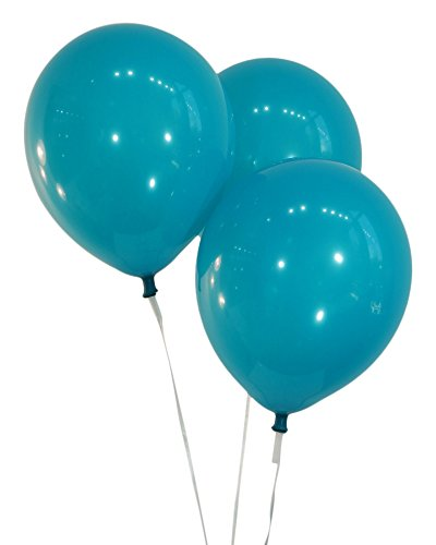 Teal 12 Inch Latex Balloons - Pack of 100 Pieces
