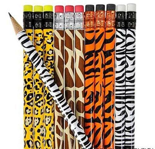 Animal Print Pencils - Set of 12